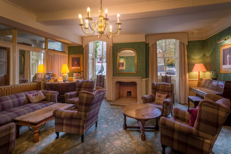 Piano lounge at the Old Hall Hotel