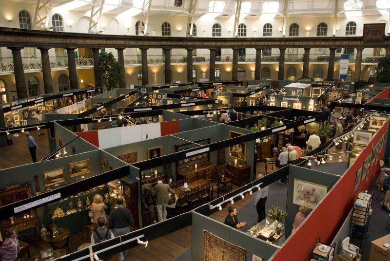 Antiques fair under the Devonshire Dome