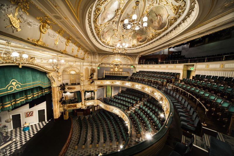 Interior view of the Buxton Opera House