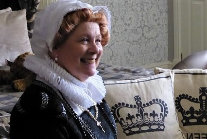 Mary Queen of Scots character tour guide at the Old Hall Hotel. Image courtesy of Ali Quas-Cohen.
