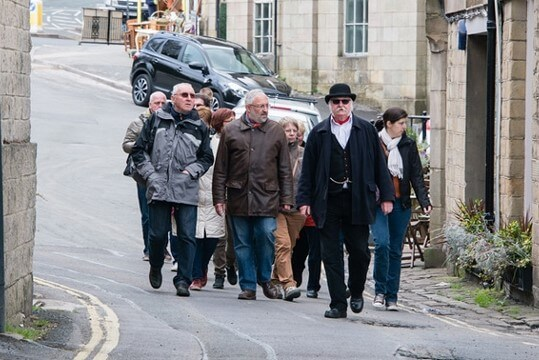 Discover Buxton tour guide and group