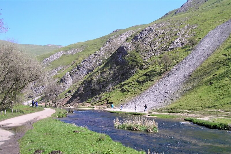 View along the River Dove at Dovedale. Image courtesy of Ali Quas-Cohen.