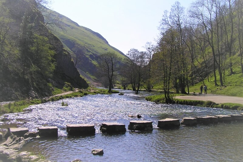 Stepping stones across the River Dove at Dovedale. Image courtesy of Ali Quas-Cohen.
