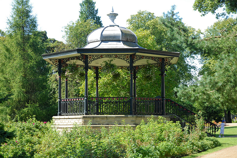 Don Redfern Memorial Bandstand in the Pavilion Gardens.