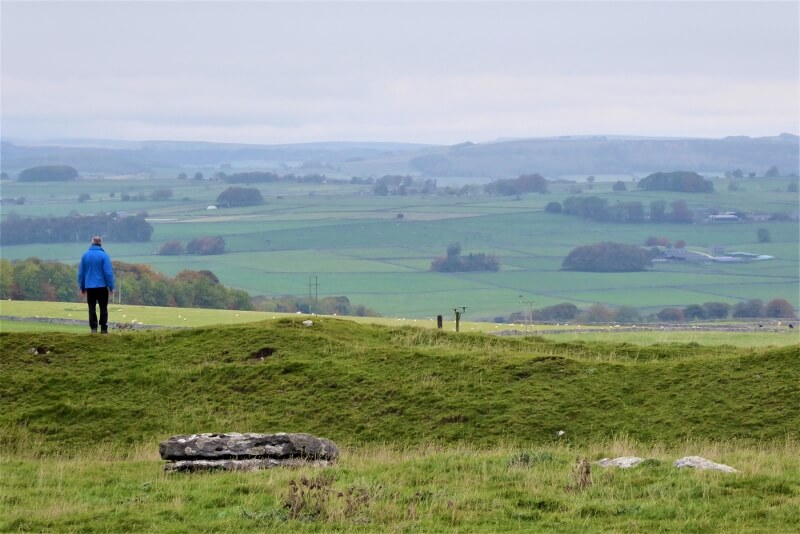 View of the White Peak from Arbor Low stone circle. Image courtesy of Ali Quas-Cohen.
