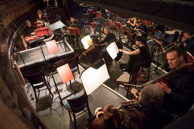 Orchestra in the Opera House's orchestra pit. Image courtesy of Richard Hubert Smith.