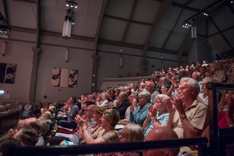 Audience in the Pavilion Arts Centre.