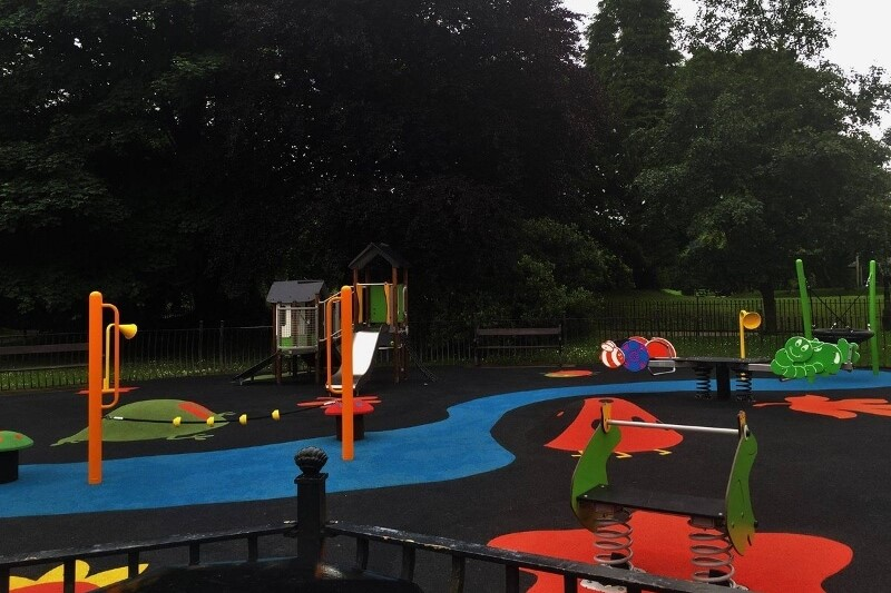Play area in the Pavilion Gardens