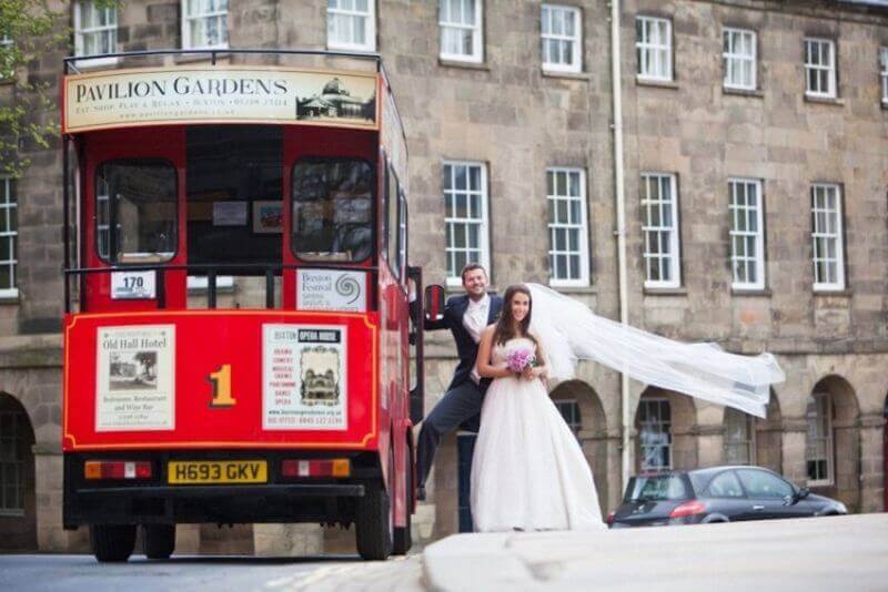 Arrive in style on the Discover Buxton tram.