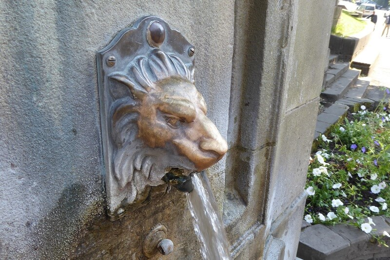 Lion head of St Anne's Well. Image courtesy of Ali Quas-Cohen.