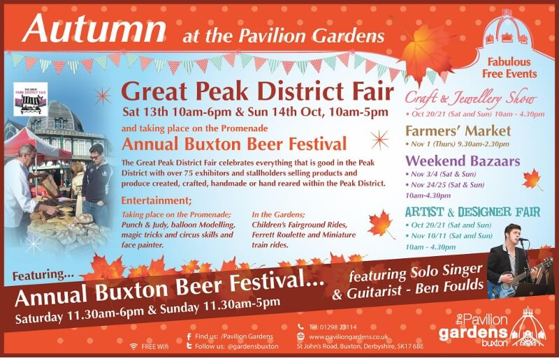 Great Peak District Fair advert.