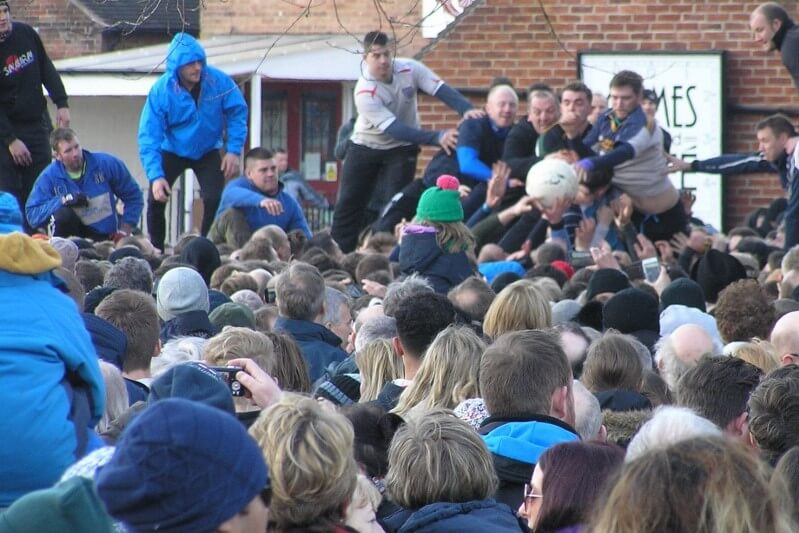 Shrovetide Football at Ashbourne. Image courtesy of Ali Quas-Cohen.